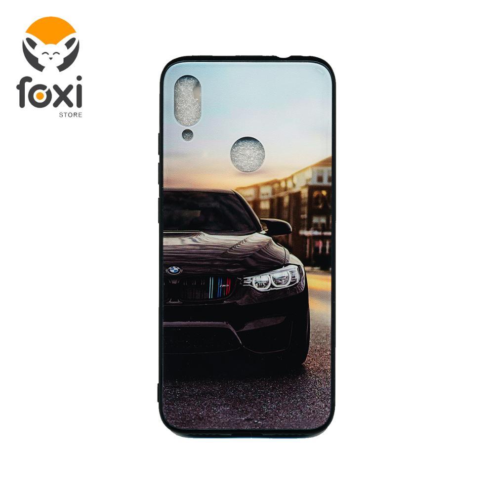 Funda protectora de cristal templado para Xiaomi Redmi Note 7 Avto BMW, carcasa de silicona para coche Redmi Note 7