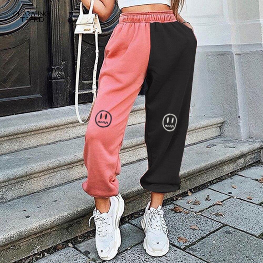 Женские повседневные спортивные брюки, новинка 2021, повседневные брюки, модные длинные брюки, облегающие стильные брюки, женская уличная оде...