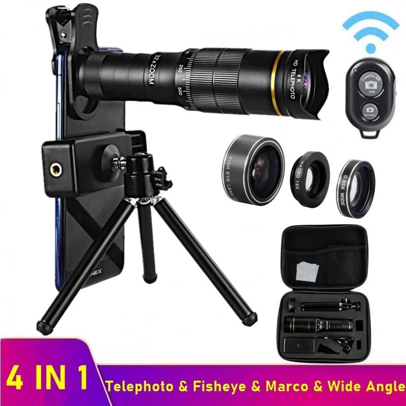 Tongdaytech 32X عدسة الهاتف المحمولة كاميرا ماكرو عدسات التكبير آيفون 12 11 برو ماكس سامسونج شاومي عيون السمكة عدسة للهاتف