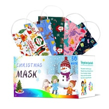 Fast Delievry 50pcs/A Box Child Mask Children's Cartoon Disposable Mask 3 Layer Child Kid Filter Hygiene Thicken Face Mouth Mask