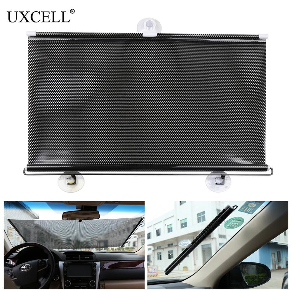 Uxcell retráctil coche de la ventana del Auto sombra de sol Visor parabrisas de ciego 50cm x 125cm sol UV cortina de ventana lateral