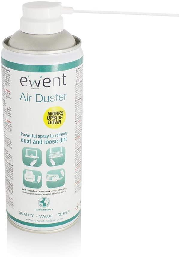 Envio 24-48hrs-Ewent EW5600 - Spray de Aire comprimido Limpia Polvo Reversible, Color Blanco