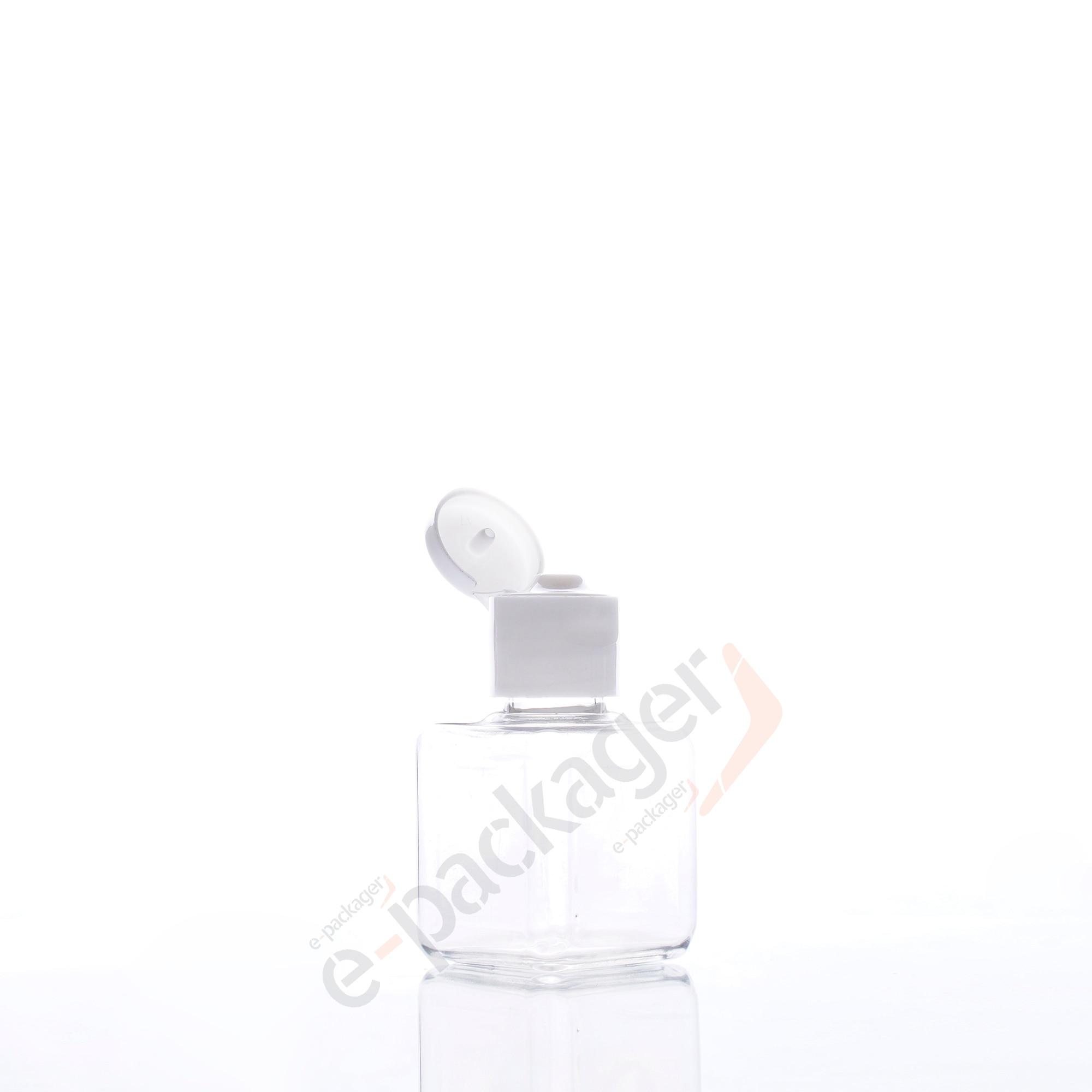 10pcs 25ml Mini Square Bottle Portable Flip Top Bottle Refillable Dispenser Bottle For Essential Oil Body Mist