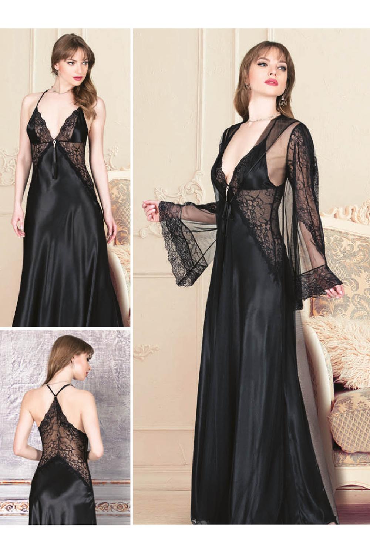 ل drams المرأة الحرير Ruched طويل حبل شماعات 2 قطعة ثوب النوم اللباس مجموعة 4941