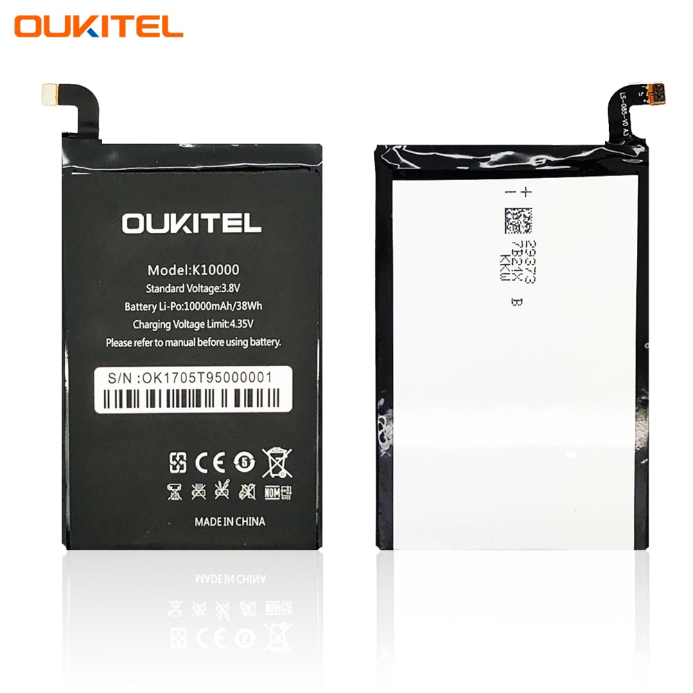 Original smartphone battery for Oukitel K10000 (3.8V, 10000 mAh)