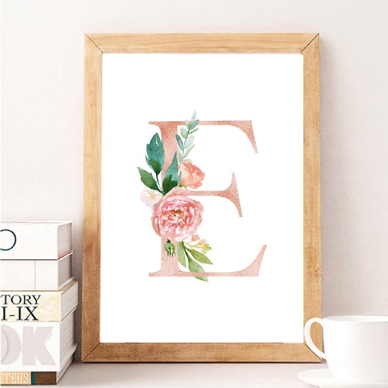 Для маленьких девочек, персональный подарок, принт для детской комнаты, на заказ, имя девушки, знак, холст, живопись, цветочный вензель, цветы...