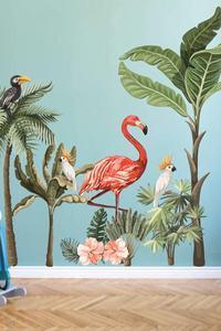 Big Size Tropical Safari Kids Baby Room Sticker PVC Nursery Kindergarten Home Decor Accessory Self Adhesive Wallpaper Big Size