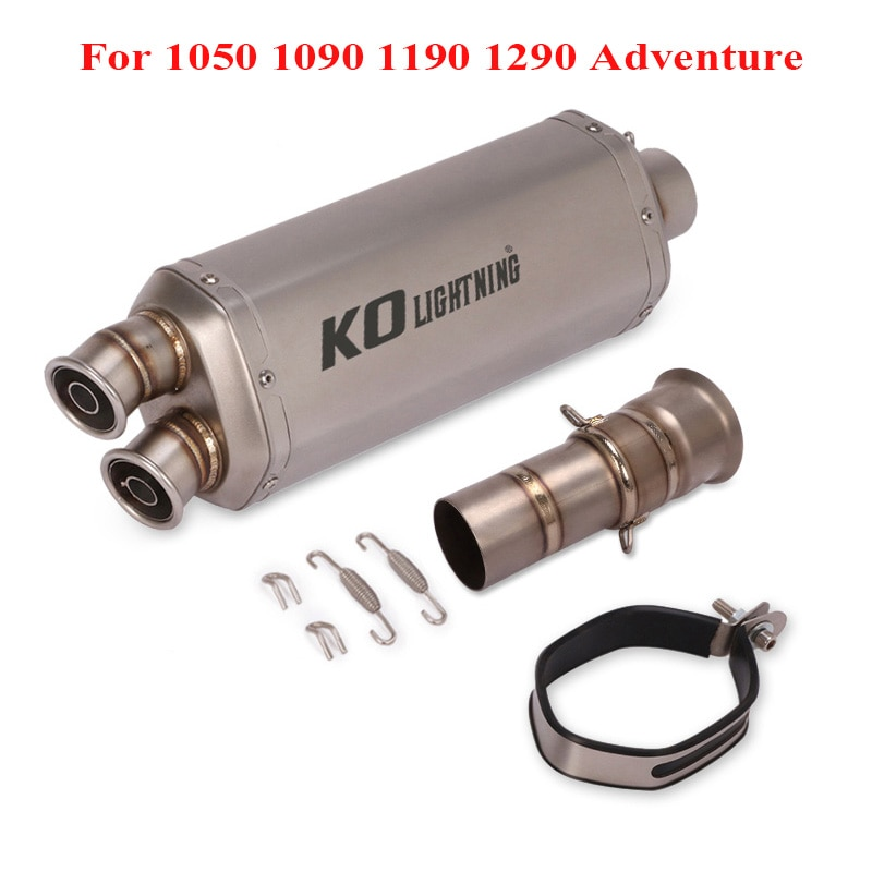 Motorcycle System Exhaust Muffler Tip Silencer DB Killer Modified Connect Link Tube for KTM 1050 1090 1190 1290