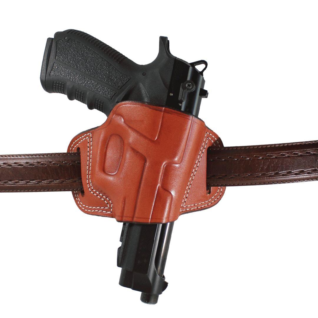 YT HOBBY Beretta 92/92F/92FS cuero Real dos ranuras deporte OWB llevar rápido dibujo hecho a mano pistola arma de fuego funda bolsa