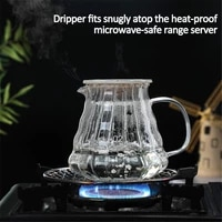 700ml 500ml glass coffee pot heat resisting transparent water kettle teapot with handle and lid coffee pot for microwave oven
