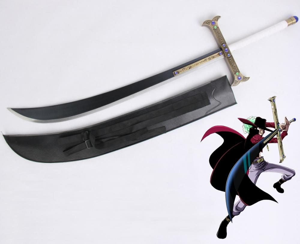 Una pieza de su espada Drakul Mihawk body Manga Anime espada de Lufy Zoro Sanji Cosplay Cosplayer