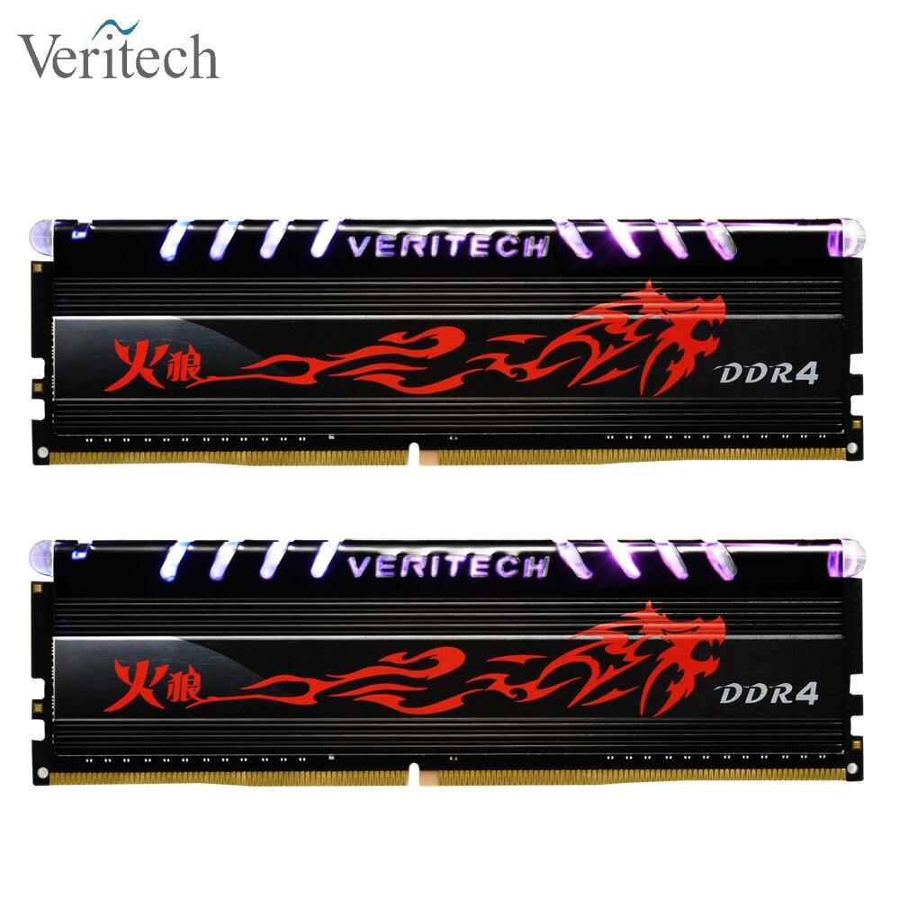 Veritech Firewolf ddr4 8GB 3000MHz RGB DIMM 16GB 2666MHz 3200mhz 3600mhz 32gb pc4 Gamin ram Desktop Memory Support motherboard