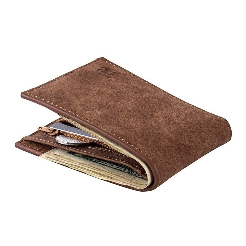 New Men Wallets Small Money Purses Wallets New Design Dollar Price Top Men Thin Wallet With Coin Bag