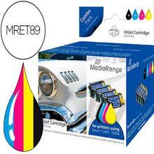 Ink-jet mediarange compatible epson t0891/t0894 multipack de 5 unidades negro(2) / amarillo / cian / magenta 151108-MRET89