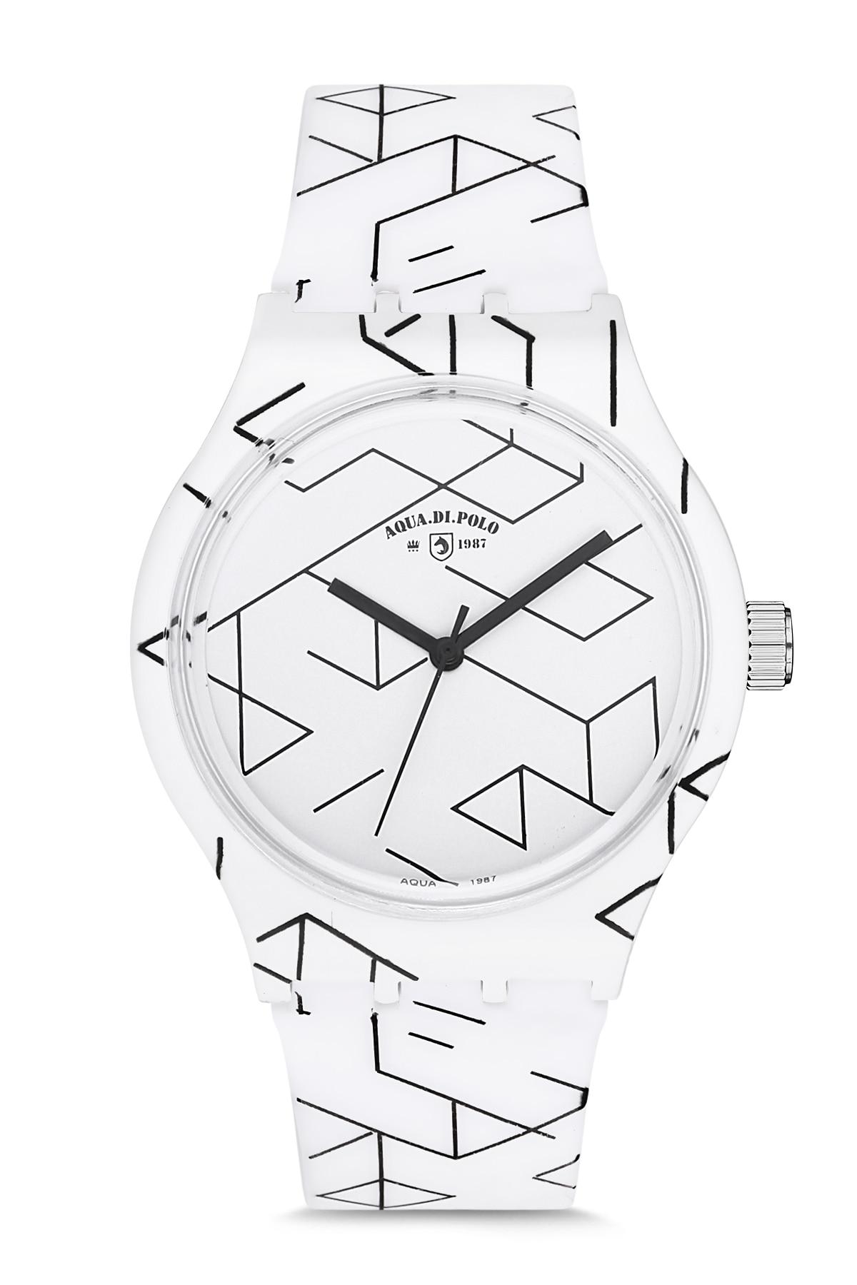 Aqua di polo APSV1-A5531-US555 silicone unisex relógio de pulso mulher masculina moda silicone banda relógio de pulso estilo simples geométrico pat