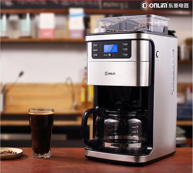Donlim máquina de café Americano doméstico automático auto casa gotejamento máquina de café grãos de café moedor de café pote DL-KF4266 1.5L