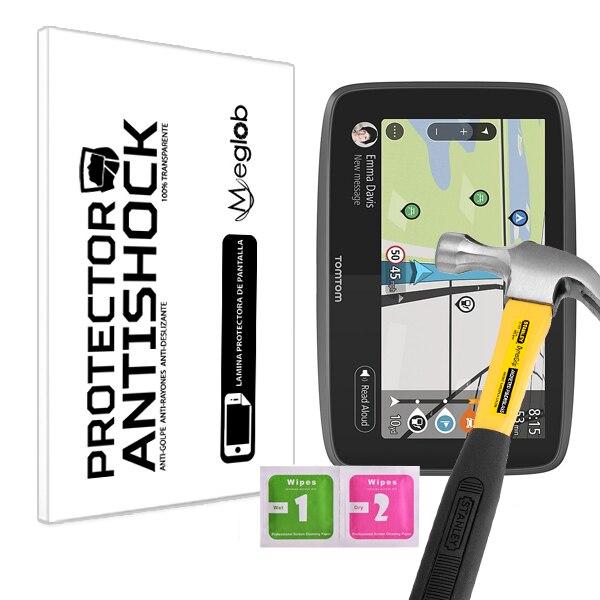 Protector de pantalla Anti-Shock Anti-arañazos Anti-rotura compatible con TomTom Go Camper Sat Nav