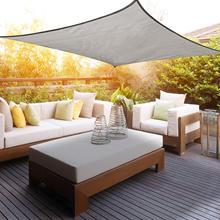 Voile auvent rectangulaire 2x3m voile dombrage extérieur cour jardin Protection UV PES imperméable, couleur gris