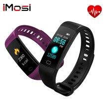 Imosi Smart Band Y5 BT4.0 Monitor de pulso de presión arterial IPS pantalla colorida IP67 pulsera inteligente para Android IOS