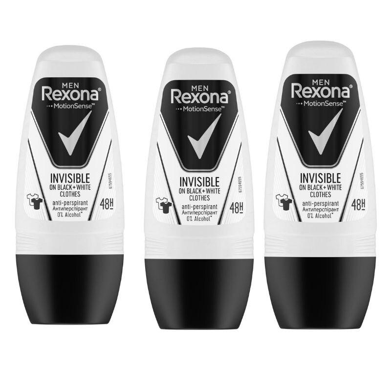 Rexona Roll-On 50 мл Невидимый мужской флакон X3, антиперспирант, мужской дезодорант харченко м радиация невидимый убийца