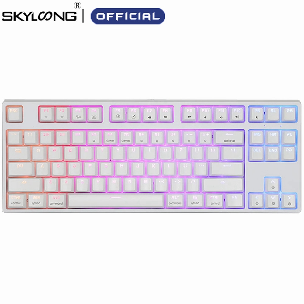 Review SKYLOONG GK87S Hot-swap Opticals Gaming Mechanical Keyboard Wireless 5.1 Bluetooth ABS Gamer Keyboard For Desktop Laptop Tablets