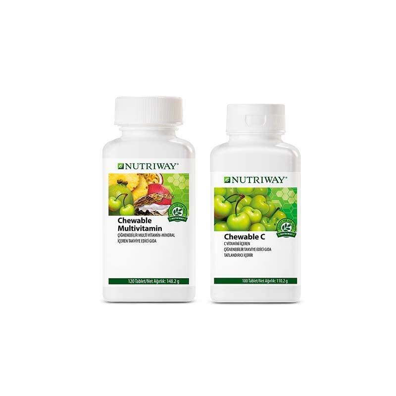 Shield Kit NUTRIWAY™ 1x Chewable Multivitamin 120 Tablets, 1x Chewable Vitamin C 100 Tablets
