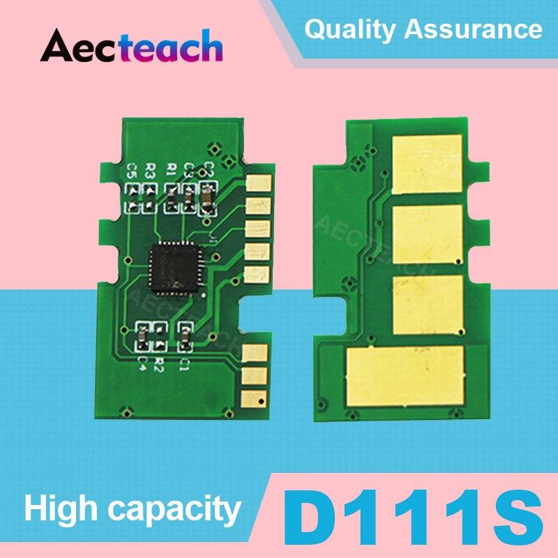 Aecteach Chip de reinicio de tóner mlt d111s 111s 111 d111 para Samsung Xpress SL-M2020W M2022 SL M2020 SL-M2020 M2070w impresoras láser