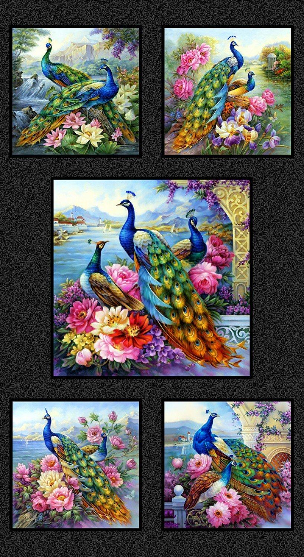 Kit de bordado de punto de cruz con bordado-manualidades 14 ct DMC color DIY artes decoración hecha a mano-hermosa colección de Peacocks
