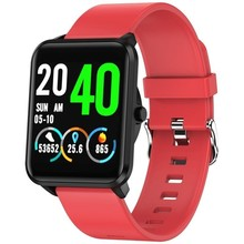 Reloj inteligente leotec funny black & red - pantalla táctil color 3.3cm - bt - multisport - pulsometro - oximetro - ip67 - bat