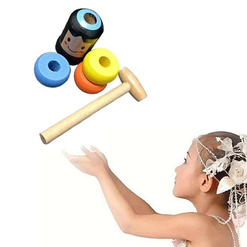 1set Magic Toy  Immortal Daruma Unbreakable Wooden Man Magic Tricks Close Up Stage Magic Props Fun Toy Accessory недорого