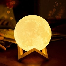 Lifelike 3D Printing Night Ligh Moon light LED Levitating Moon Lamp Bedside Adjustable Color Changin