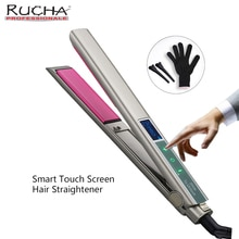 Hair Straightener Fast Warm-up Smart Touch LCD Dispaly Screen Professional MCH Ceramic Heating Plate