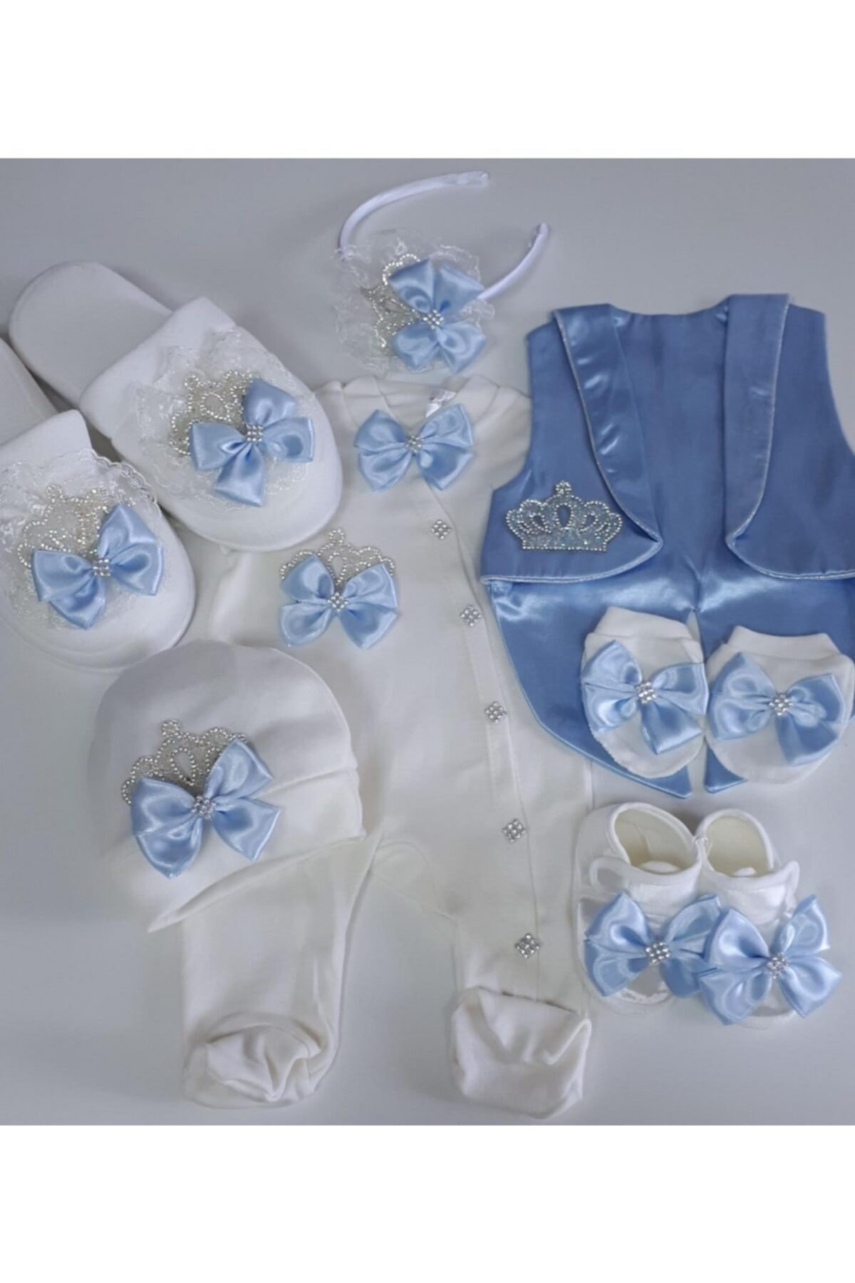 Baby Boy Hospital Outlet Maternity Set Slipper Crown 7 Piece Birth Gift Mother-Baby Products 2021 fashion, Stylish and Quality