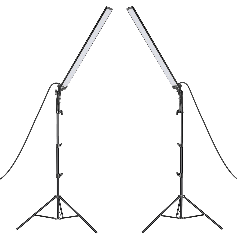 Neewer-مجموعة إضاءة الاستوديو LED ، مجموعة إضاءة الاستوديو مع عصا إضاءة LED محمولة ، حامل إضاءة للتصوير الفوتوغرافي للمنتجات الشخصية
