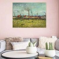 Holover toile peinture a lhuile Van Gogh  usines a Asnieres  vu du Quai de Clichy  expressionnisme esthetique maison deco
