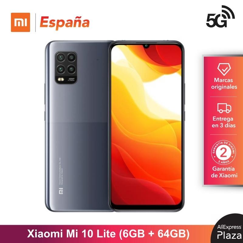 Xiaomi Mi 10 Lite 5G (Memoria interna de 64GB, MEMÓRIA RAM de 6GB, o Android, nuevo, Libre) [Teléfono Movil Versión G