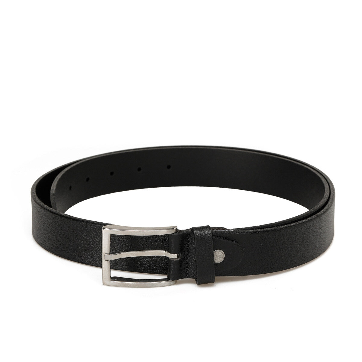 FLO 20M KLT cuero KMR negro masculino cinturón Garamond