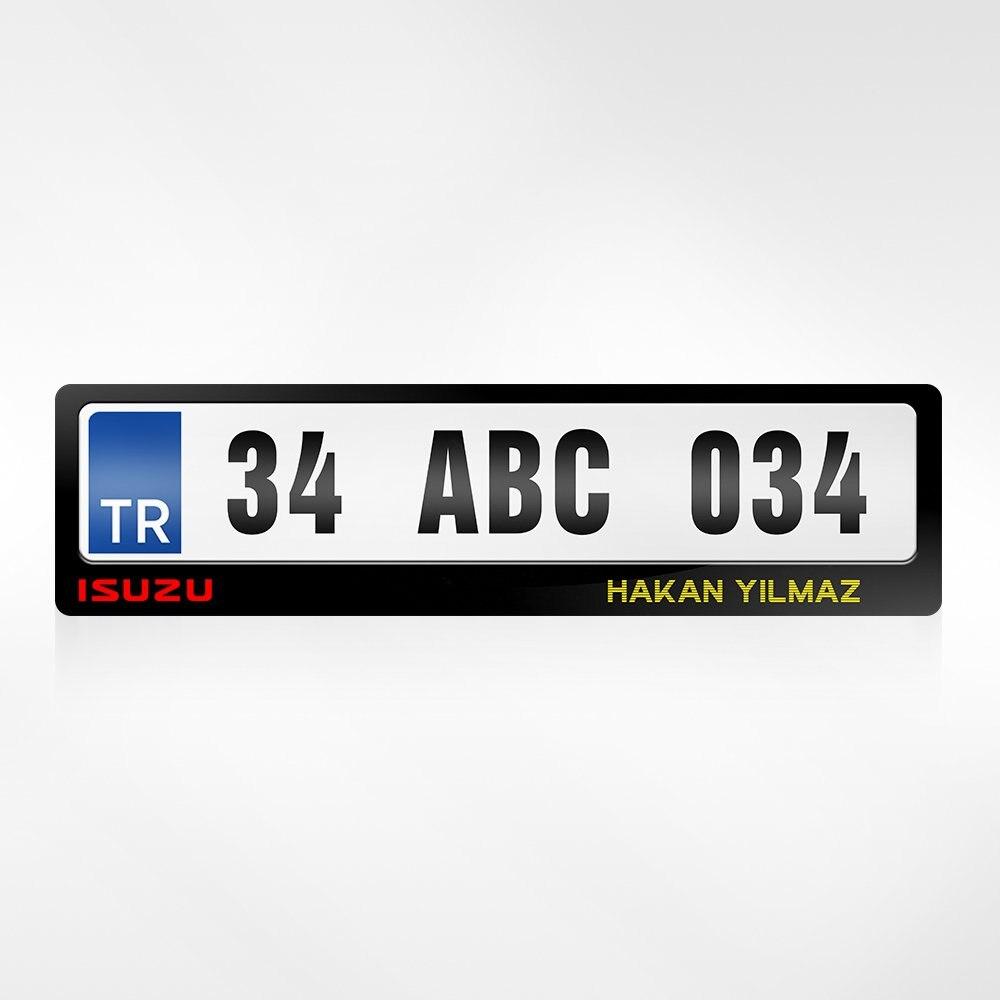 Personalizado es Isuzu Logo placas de