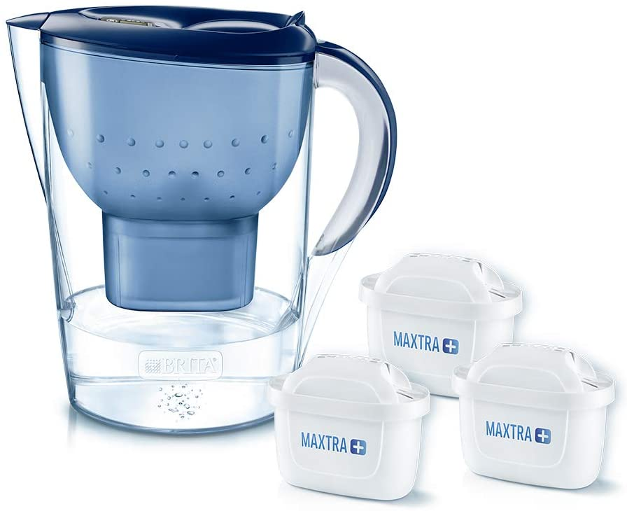 BRITA Marella XL 3 Filtered Water Purifier Jug - Blue