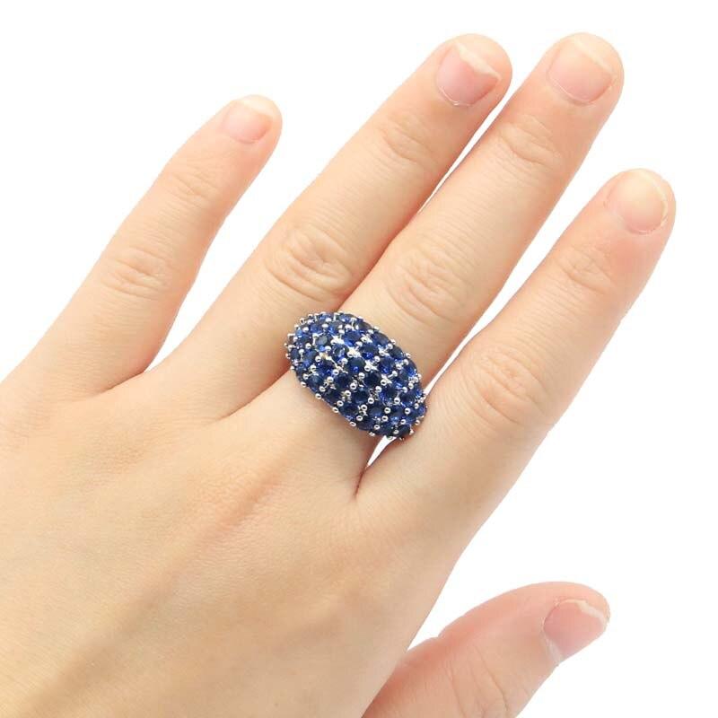 24x14mm SheCrown 2020 recién llegado creado tanzanita regalo para anillos de plata de mujer