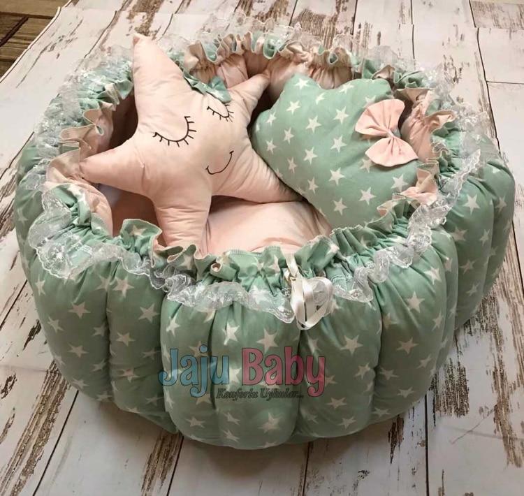 Jaju الطفل الأخضر ستار قابل للسحب تلعب حصيرة الطفل عش ، الأمهات السرير ، الطفل صالة كرسي ، المحمولة الطفل السرير ، المحمولة السرير