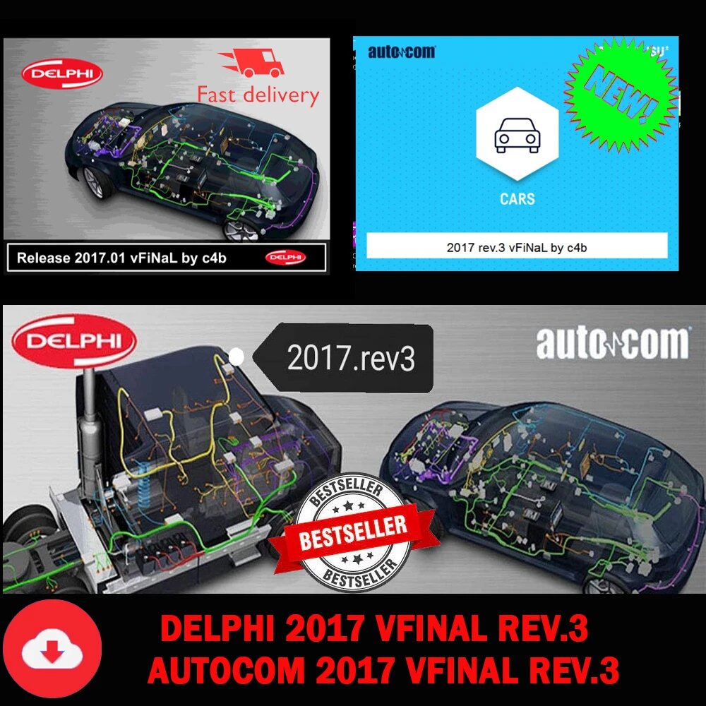 AliExpress - Newest Software (Delphi 2017 + Autocom 2017) vFiNal REV.3 Free Keygen for Delphis 150e Multidiag Vd Ds150e with Car and Truck