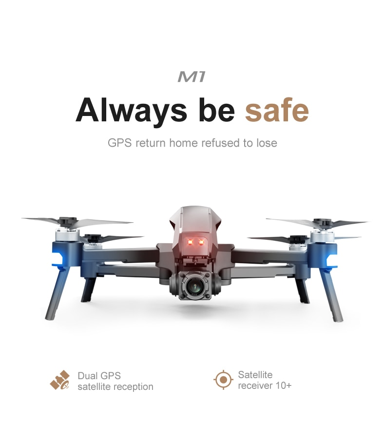 U312aa1abbaa2459b86e6ecd45dd838b5X - 2021 M1 Pro 2 drone 4k HD mechanical 2-Axis gimbal camera 5G wifi gps system supports TF card drones distance 1.6km