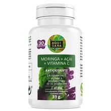 Moringa et açai   Vitamine C   Aide au poids perdu   Antioxydant   Régimes   30 comprimés aquisana