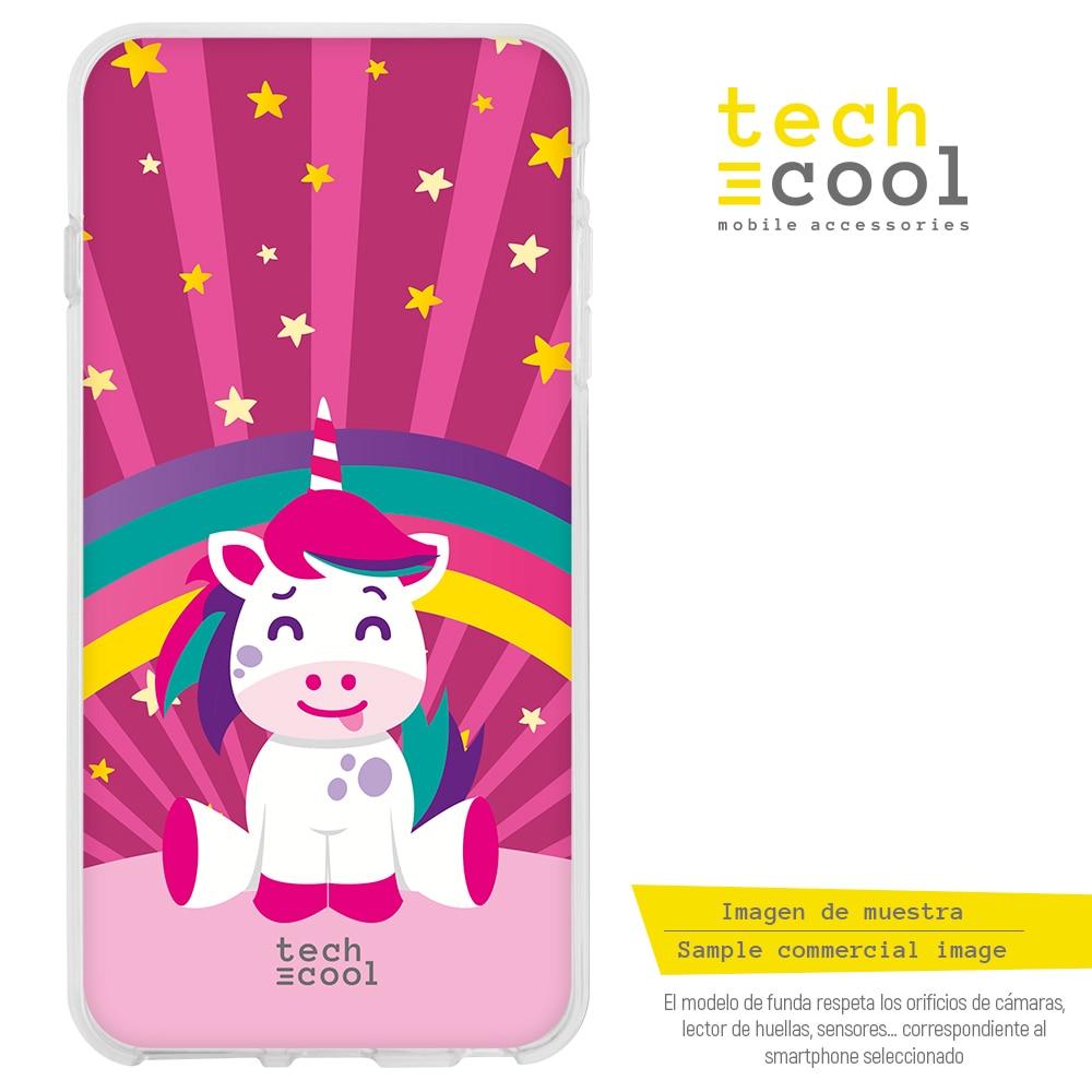 FunnyTech® Funda Silicona para Xiaomi Redmi Note 8 Pro l Unicornio grande rosa