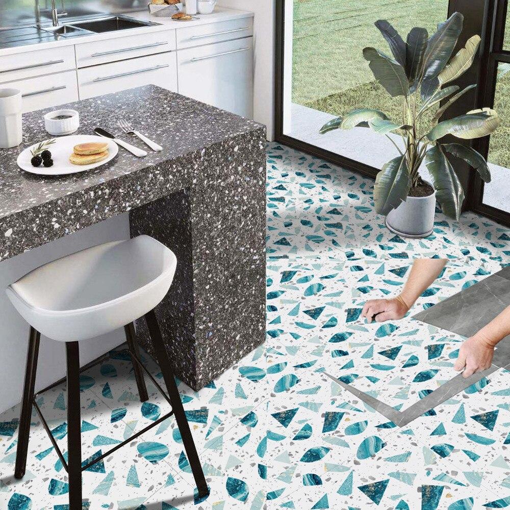 Самоклеящаяся напольная наклейка в европейском стиле для кухни ванной комнаты, водостойкая Нескользящая виниловая Напольная Декоративная Плитка, наклейки