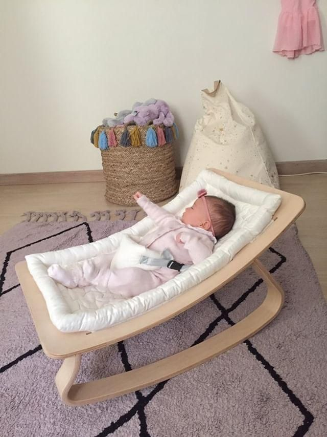 TurQuality Natural Hornbeam Wooden Baby Rocker With Sponge Bed New Born Wood Cradle Crib Lit Bedstead Baby Swing Mukabo Baby Rocker Furniture Girl Boy Clothes Maternity Mother Kids Baby Room Accessories Free DropShipin enlarge
