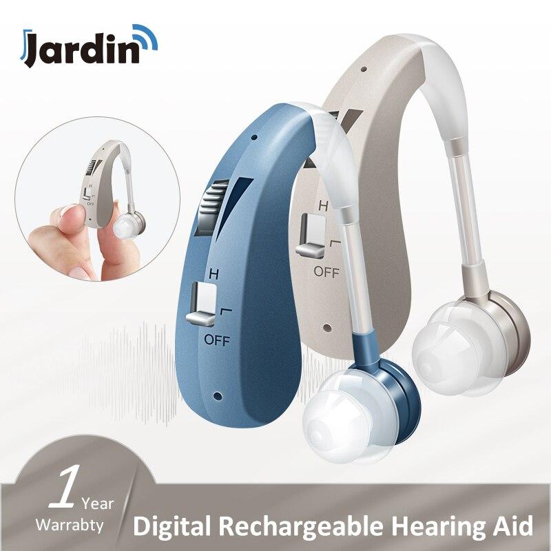 BTE 202S-amplificadores de soporte auditivo para la audición de los ancianos, audífonos recargables digitales, triangulación de envíos