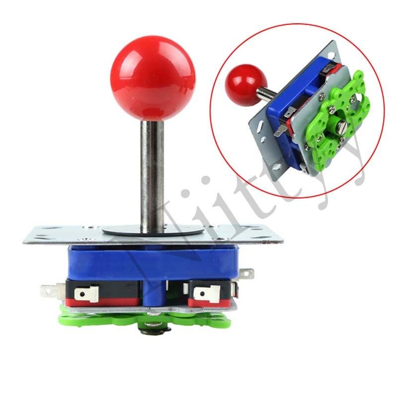 Arcada joystick zippy 2/4/8 way rocker 34mm bola superior longo shaf atraso kit diy jogos clássico controlador do jogo