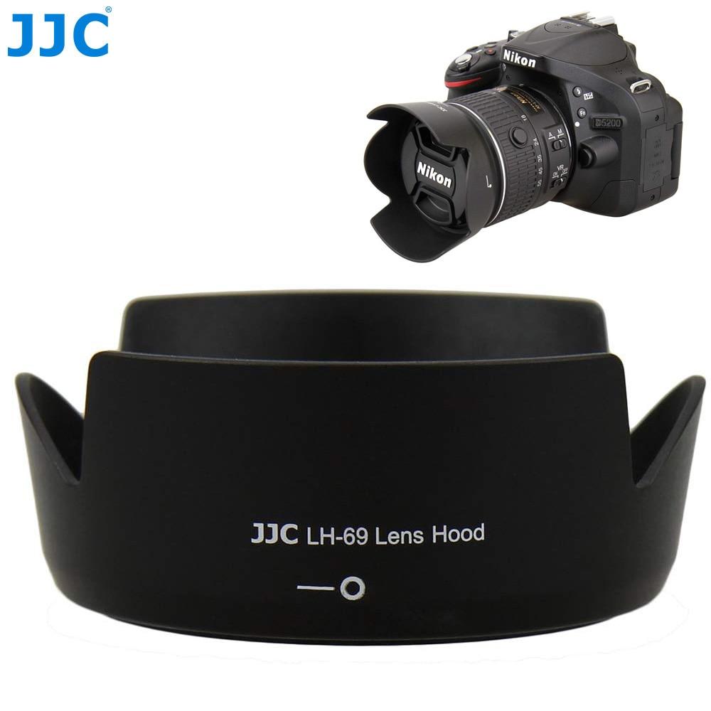 Бленда объектива JJC для камеры Nikon AF-S DX NIKKOR 18-55 мм f/3,5-5,6G VR II Заменяет объектив Nikon HB-69